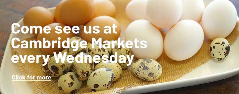 Come see use at Cambridge Markets every Wednesday